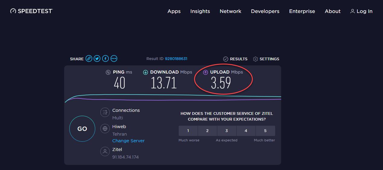 سنجش سرعت اینترنت