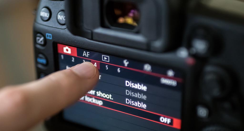 تنظیمات دوربین برای فیلمبرداری